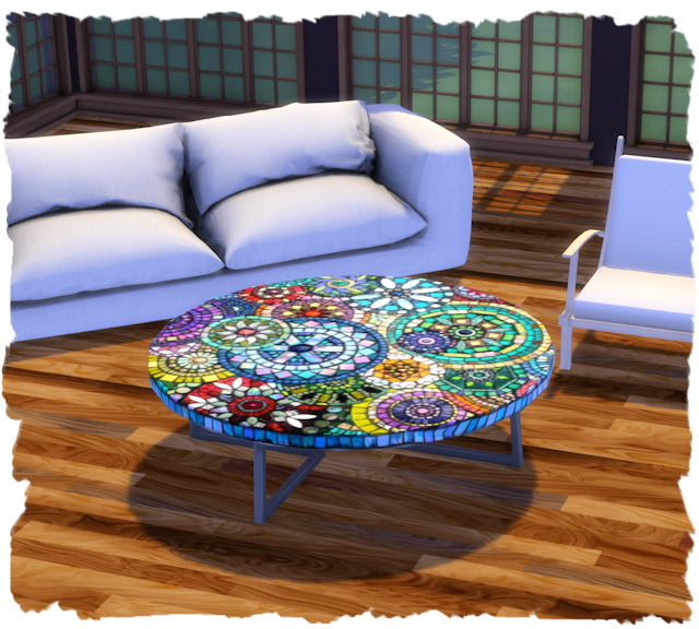 Coffee table eco round by Chalipo at All 4 Sims image 7817 Sims 4 Updates