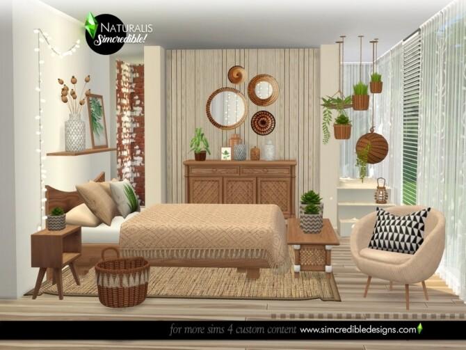 Sims 4 Naturalis Bedroom by SIMcredible at TSR