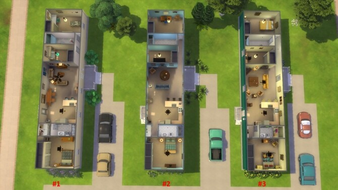 Sims 4 Mobile Home Park No CC by alilona at Mod The Sims