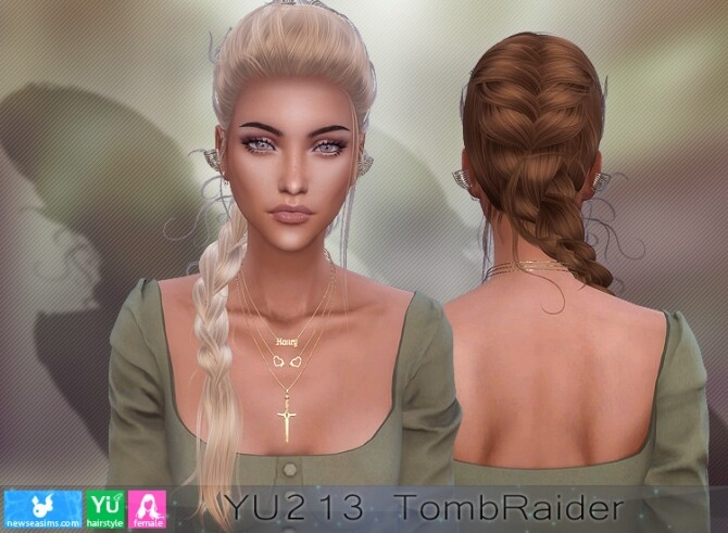 YU213 TombRaider hair