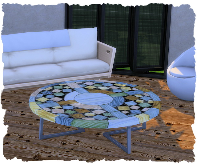 Coffee table eco round by Chalipo at All 4 Sims image 7916 Sims 4 Updates