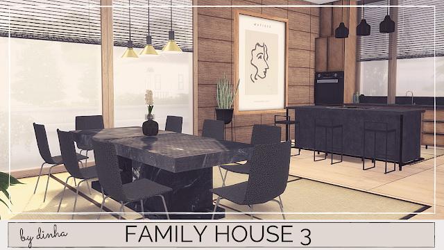 Sims 4 FAMILY HOUSE 3 at Dinha Gamer