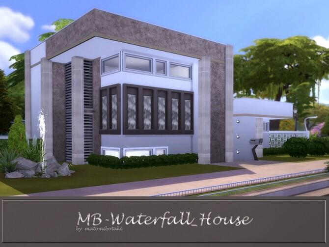 Sims 4 MB Waterfall House by matomibotaki at TSR