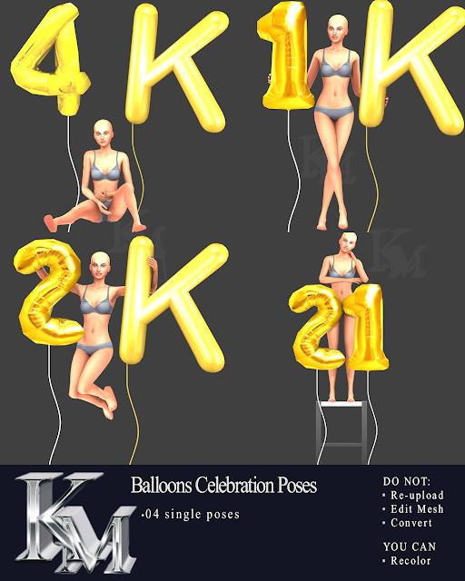Sims 4 Balloons Celebration Poses at KM