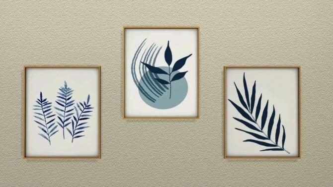 Blue Plant Paintings