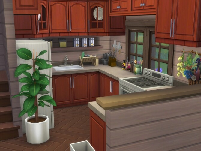 Sims 4 Family Cottage no CC by A.lenna at TSR