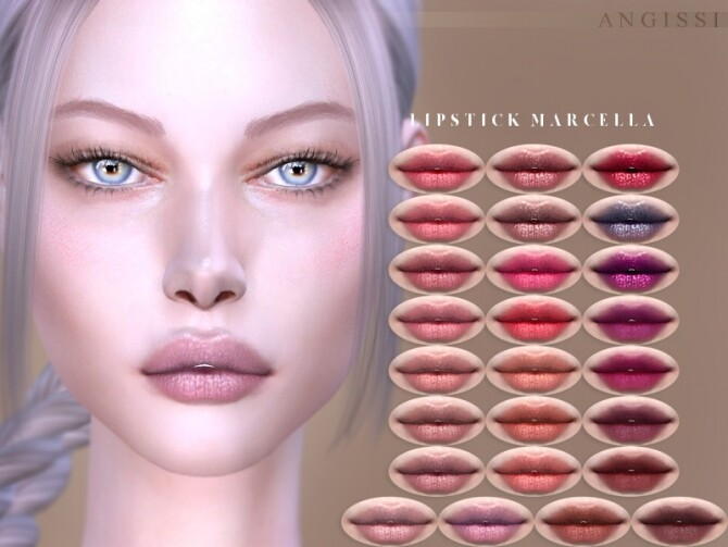 Sims 4 Lipstick Marcella by ANGISSI at TSR