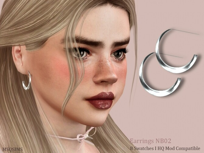 Sims 4 Earrings NB02 at MSQ Sims