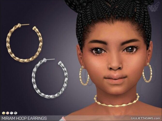 Sims 4 Miriam Hoop Earrings For Kids at Giulietta