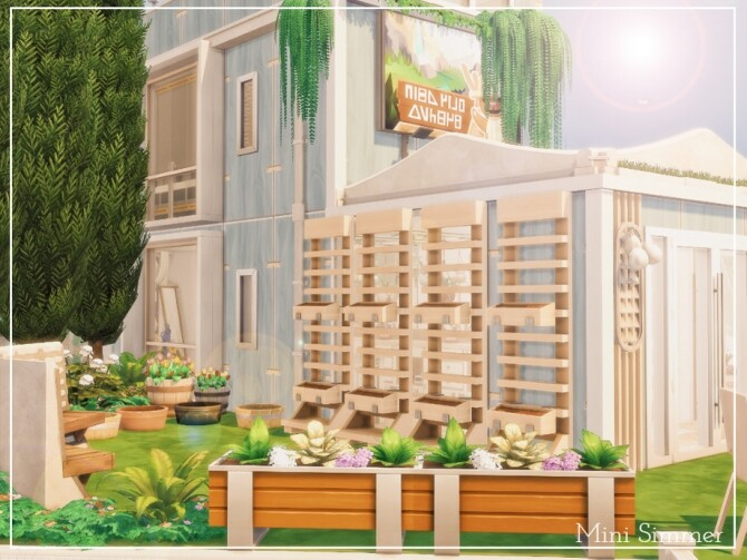 Sims 4 Community Garden by Mini Simmer at TSR