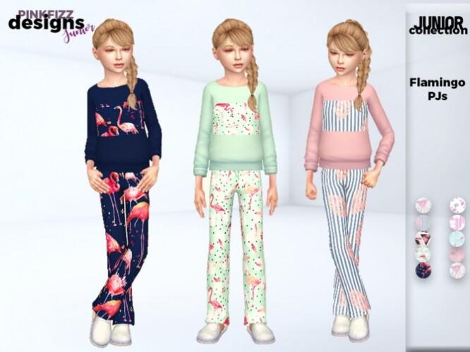 Junior Flamingo PJs by Pinkfizzzzz