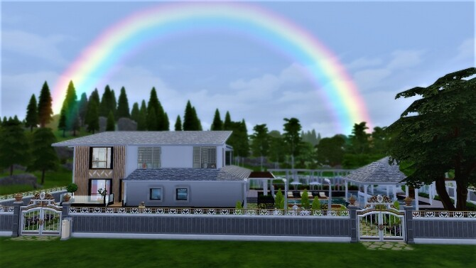 Sims 4 Modern Villa with Nice Garden by gameid245 at Mod The Sims