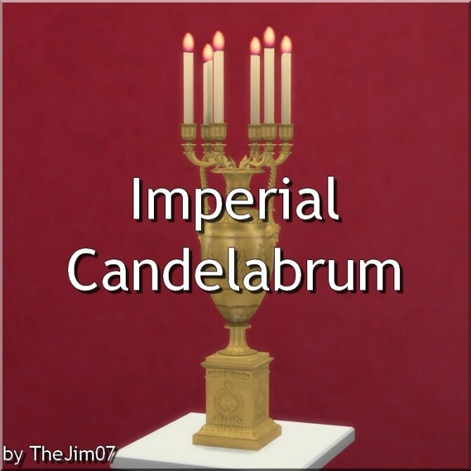 Imperial Candelabrum by TheJim07 at Mod The Sims image 922 670x670 Sims 4 Updates