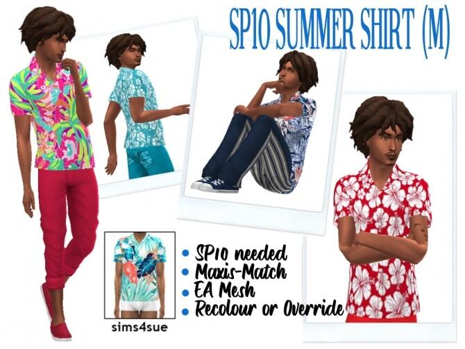 Sims 4 SP10 SUMMER SHIRT (M) at Sims4Sue