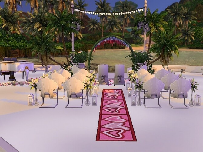 Sims 4 Beach marriage venue by GenkaiHaretsu at TSR