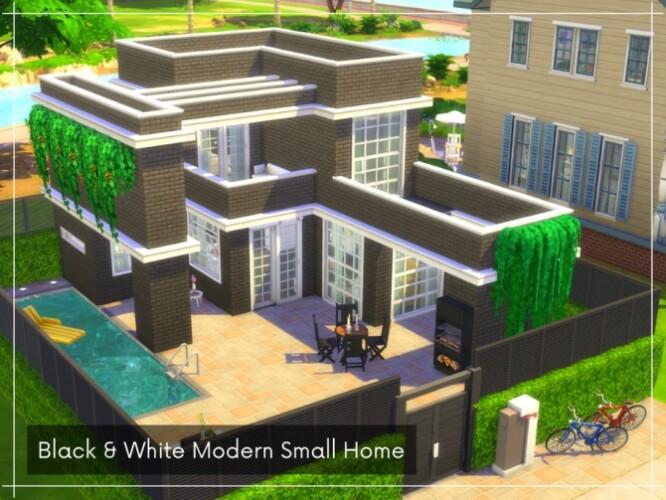 Black White Modern Small Home