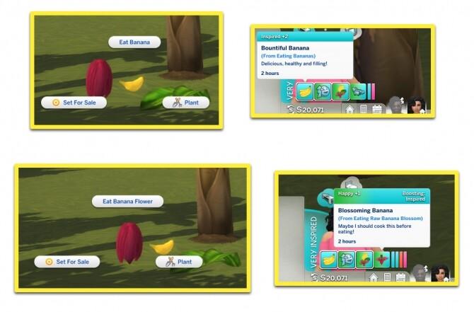HARVESTABLE BANANA PLANT at Icemunmun image 954 670x441 Sims 4 Updates
