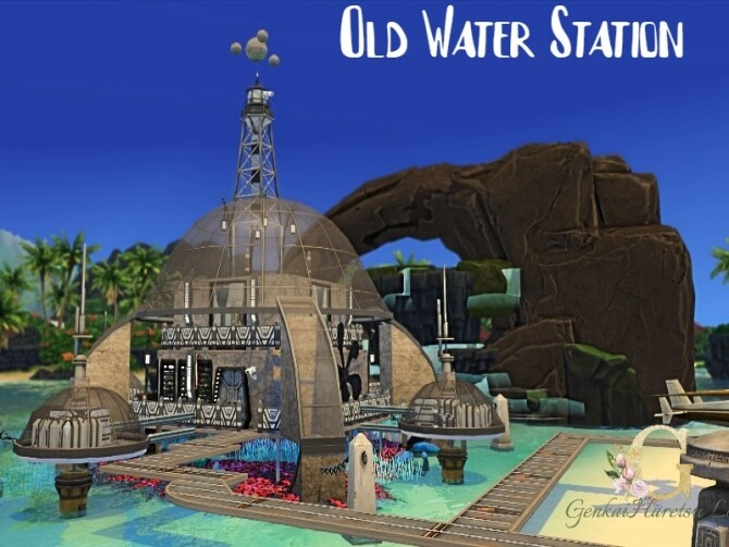 Sims 4 Old Water Station by GenkaiHaretsu at TSR
