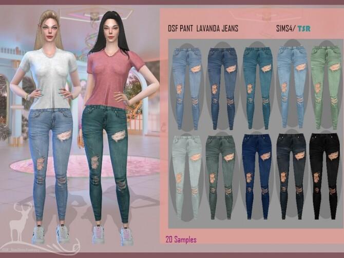 Sims 4 DSF PANT LAVANDA JEANS by DanSimsFantasy at TSR