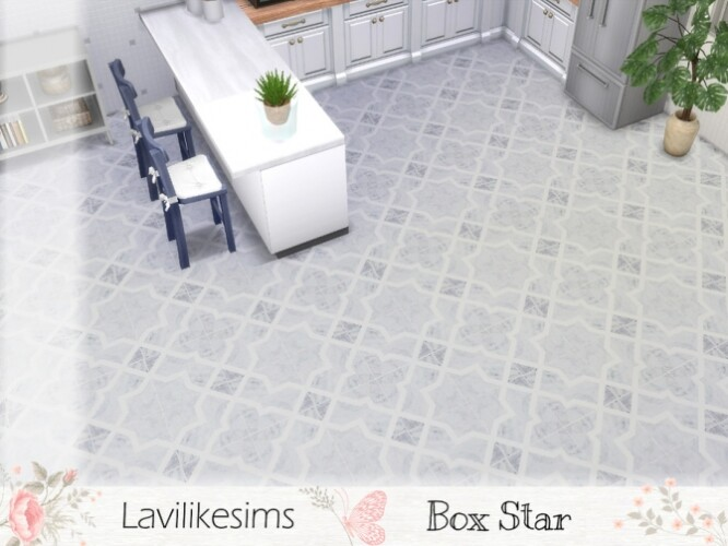 Box Star floor tiles by lavilikesims