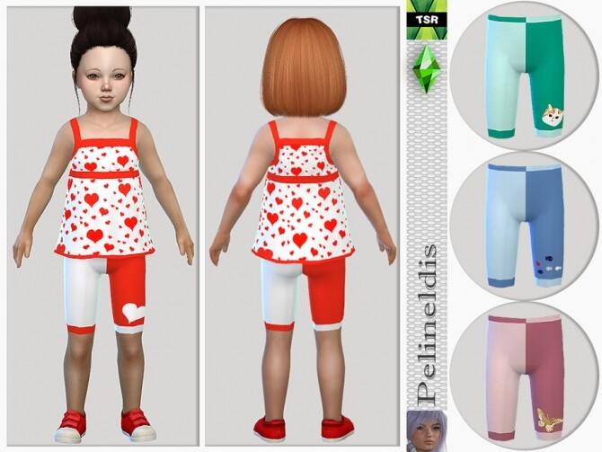 Sims 4 Toddler Strappy Pyjamas Bottom by Pelineldis at TSR