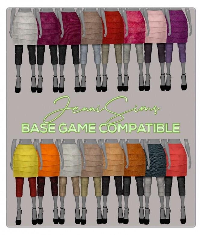 Sims 4 BASE GAME COMPATIBLE skirt at Jenni Sims
