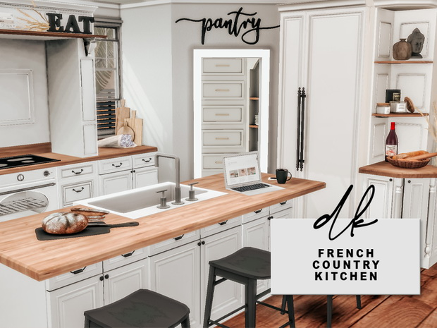 Sims 4 French Country Kitchen at DK SIMS