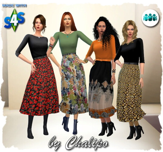 Friends dress autumnal by Chalipo