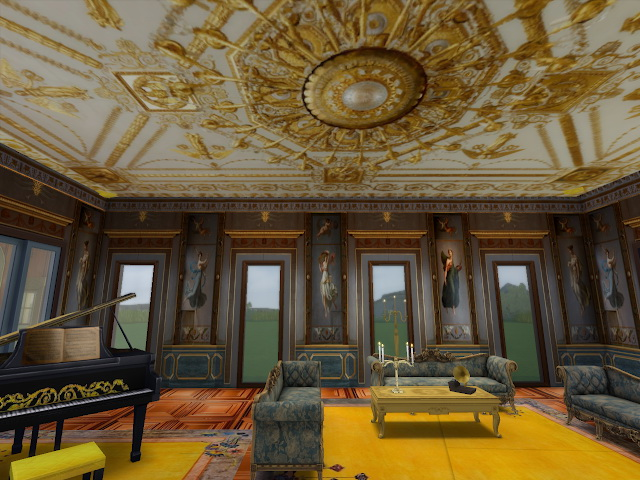 Sims 4 Amazing Golden Ornamented Ceilings at Anna Quinn Stories