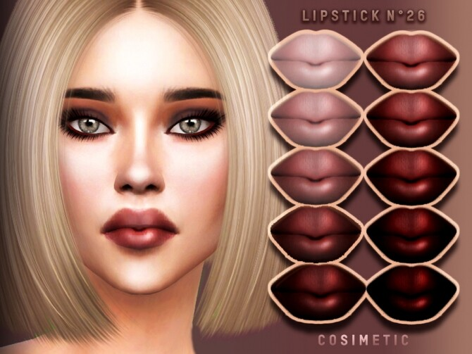 Lipstick N26 by cosimetic at TSR image 10013 670x503 Sims 4 Updates