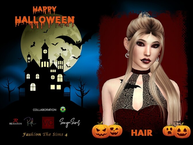 Sims 4 Endors Witch Hair by SonyaSimsCC at TSR