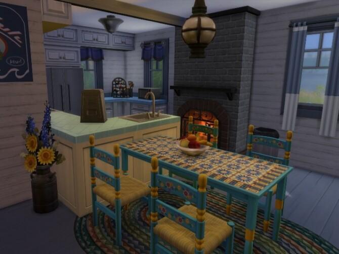 Sims 4 Blue lake house by GenkaiHaretsu at TSR