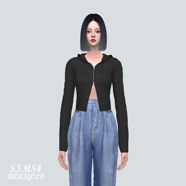 Sims 4 Knit Hood Cardigan at Marigold