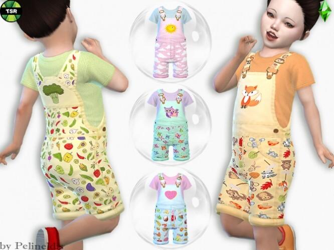 Toddler Girlie Overall by Pelineldis