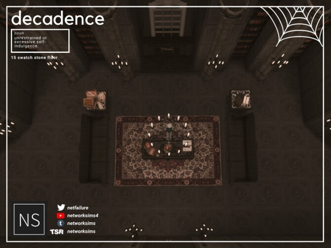 Sims 4 Decadence Stone Floor by Networksims at TSR