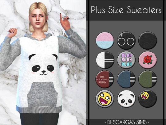 Sims 4 Plus Size Sweaters at Descargas Sims