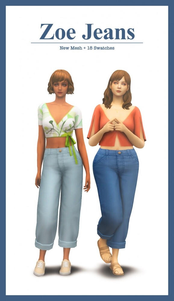 Sims 4 Zoe Jeans at Sims4Nicole