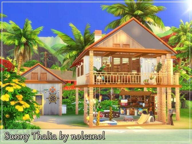 Sunny Thalia House by nolcanol at TSR image 1060 670x503 Sims 4 Updates
