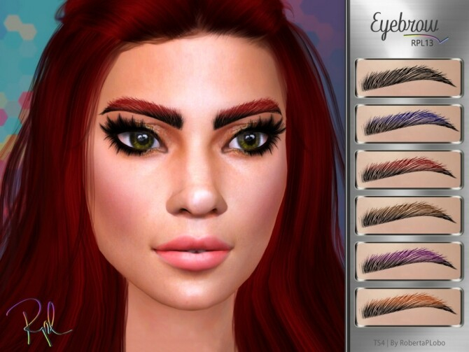 Sims 4 Eyebrow RPL13 by RobertaPLobo at TSR