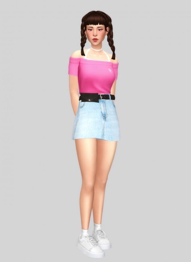Unbalance off shoulder top at Casteru image 10715 670x917 Sims 4 Updates