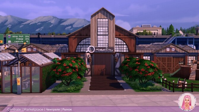 Sims 4 Centrale Community Space at MikkiMur