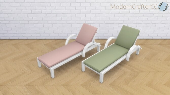 Sims 4 Outdoor Lounger Recolour at Modern Crafter CC