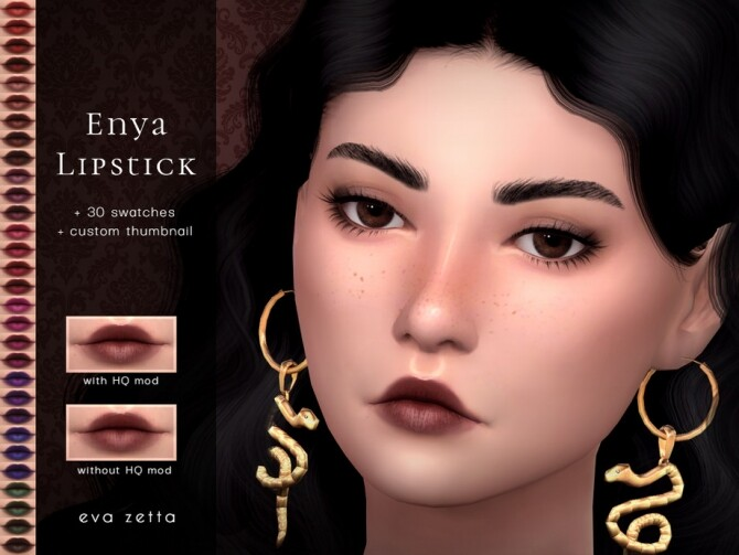 Sims 4 Enya Lipstick by Eva Zetta at TSR
