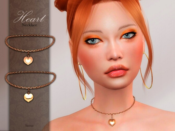 Sims 4 Heart Necklace by Suzue at TSR