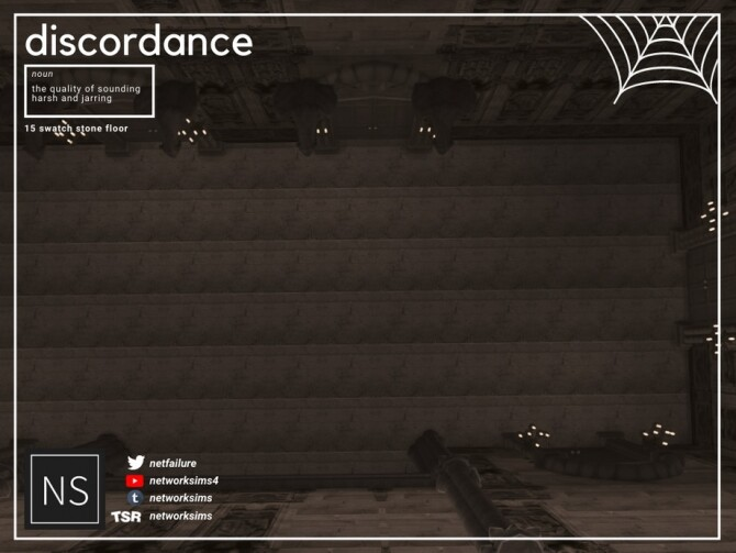 Sims 4 Discordance Stone Floor by Networksims at TSR
