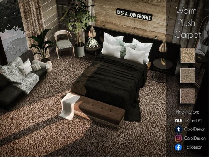 Sims 4 Warm Plush Carpet by Caroll91 at TSR