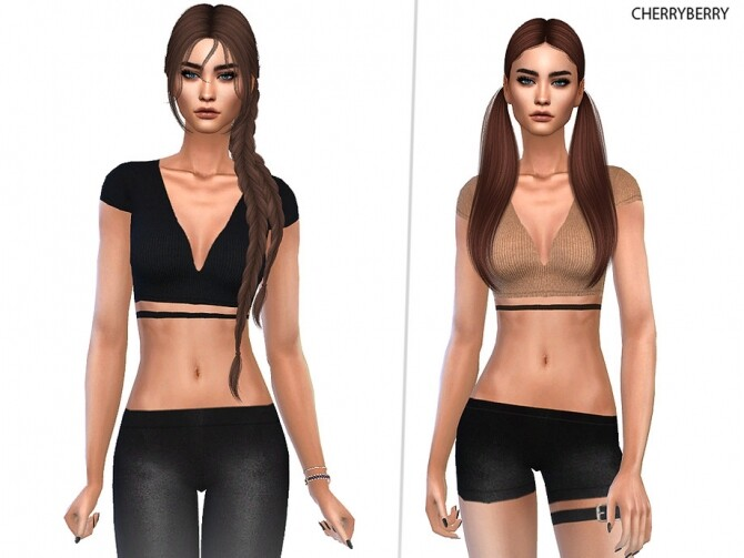 Sims 4 Tomb Explorer Top by CherryBerrySim at TSR