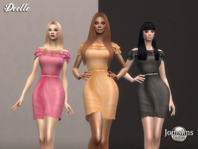 Sims 4 Deelle dress by  jomsims at TSR