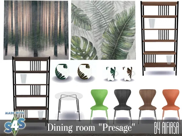 Sims 4 Presage dining room at Aifirsa