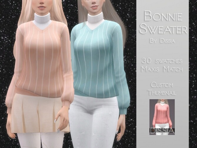 Bonnie Sweater by Dissia at TSR image 1122 670x503 Sims 4 Updates